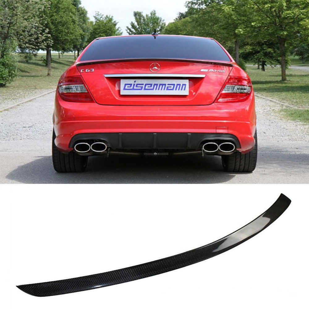 W204 C180 C200 C260 C300 Carbon Fiber Car Rear Trunk lip spoiler wing For Mercedes Benz W204 C63 4 Door 2008-2013 AMG Style mercedes carbon fiber trunk amg style spoiler fit for benz e class w207 2 door 2010 2015 coupe convertible vehicles