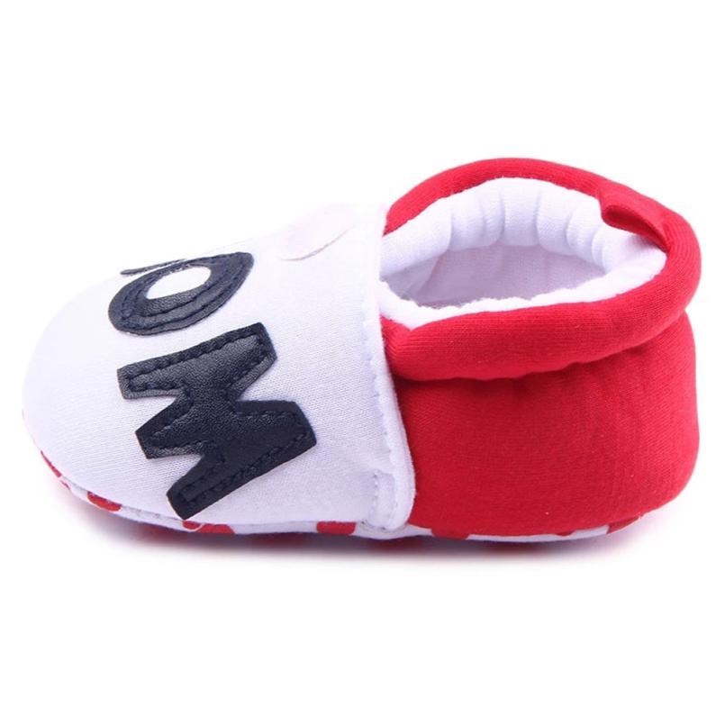 I Love Mon Newborn Baby Boys Girls Shoe First Walkers Soft Soled Infant Toddler Kids Unisex Flats Soft Slippers Shoes 17Dec7