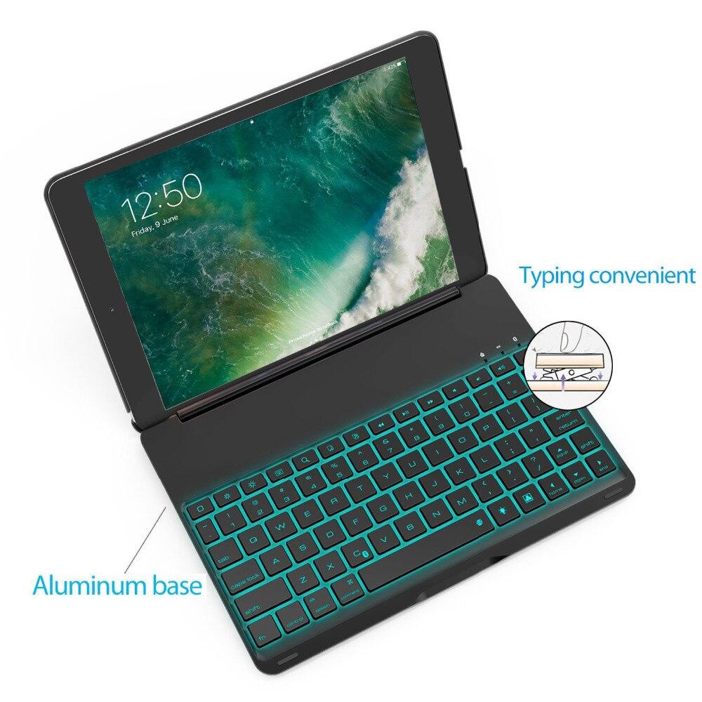For Ipad Pro 10.5 Tablet Keyboard USB Backlight Smart Case Cover Luxury Bluetooth Keyboard For Ipad 10.5 Pro Keyboards