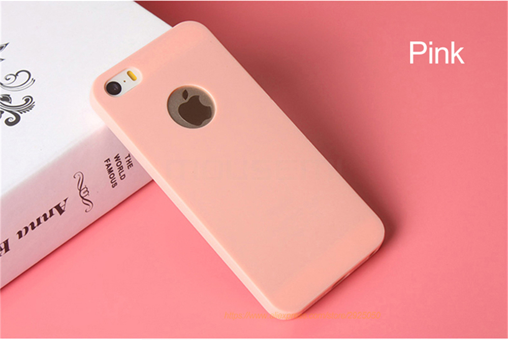 MOUSEMI Phone Cases Silicone 5S se For iPhone Case Candy For iPhone 5s se 5 Case Cute Silicone Pink Soft Luxury Matte Coque 5s 5 (10)
