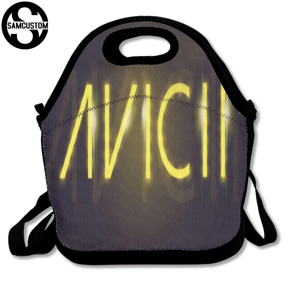 SAMCUSTOM 3D Print Avicii Lunch Bags Insulated Waterproof Food Girl Packages men and women Kids Babys Boys Handbags