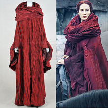 GoT Game of Thrones Cosplay Costume The Red Woman Melisandre Outfit Cosplay Costume Custom Made Free Shipping