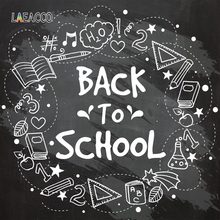 Laeacco Back To School Chalk Backdrop Photocall Photography Background Party Customized Backdrops For Photo Studio