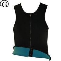 PRAYGER Men Sauna Control Body Shaper Plus size 5XL Slimming Waist shaping Top Vest Sweat Belly Corset