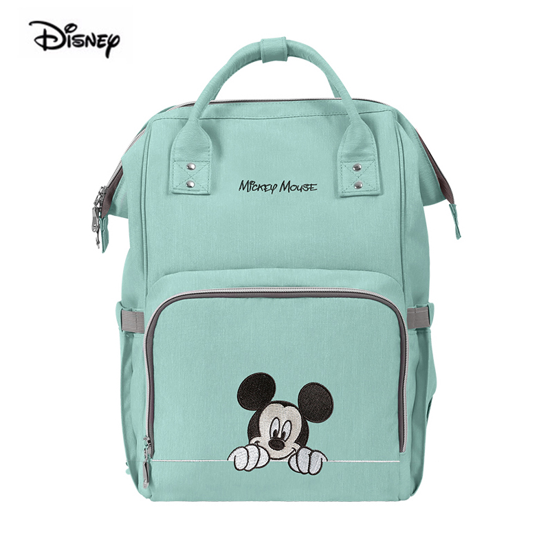 Disney Mickey Mouse Baby Bag For Mother Large Capacity Mom Pregnant Women Nappy Waterproof Polyester Maternity Diaper Backpack-in Diaper Bags from Mother & Kids    1