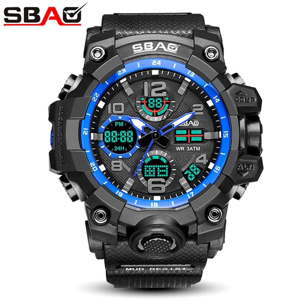 SBAO Men Women Wristwatches Digital LED TPU Quartz Sports Watches Man Electronic Watch Relogio Sport Masculino Couple Watches