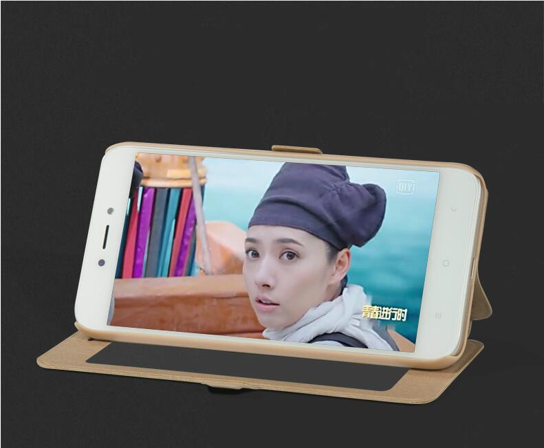 Image 3 - Xiaomi Redmi 5 Plus Case window Flip Cover Shockpoof xiaomi redmi 5 Plus Case Luxury Original size transparent for smart Phone-in Flip Cases from Cellphones & Telecommunications