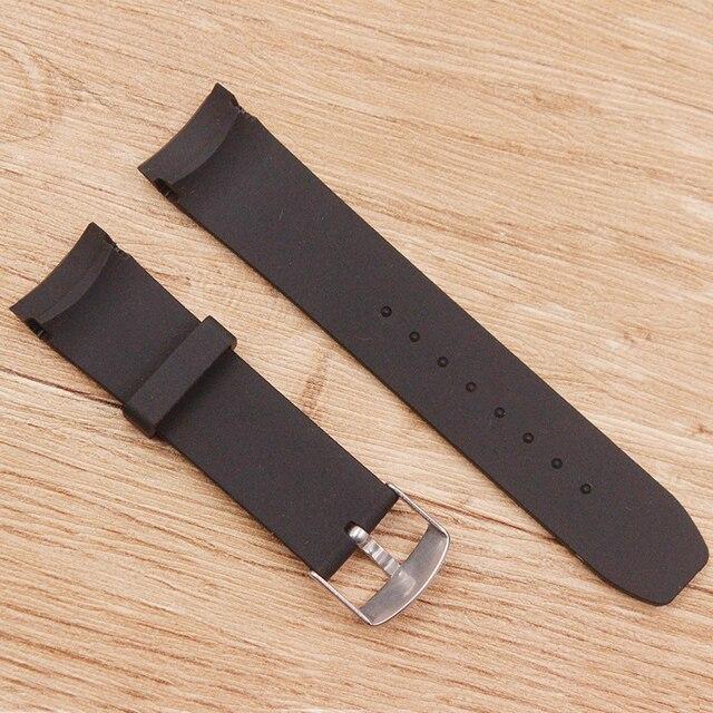 Watch accessories Men's silicone black sports watch belt Waterproof and sweat-proof 22mm pin buckle Men's watch strap 4