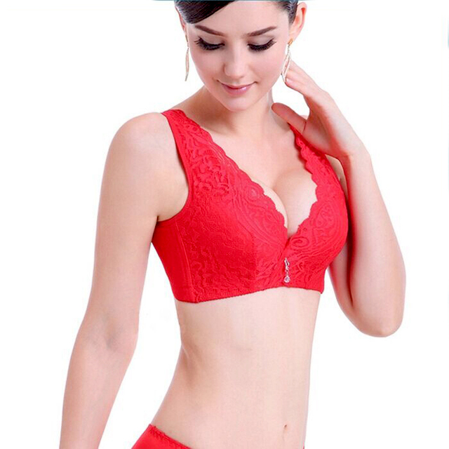 50d401cd1 Women s Underwear Set Sexy Lace Push Up Full Cup Plus Size Bra Red Black  Pink 36 38 40 80 85 90 B C D Large Cup
