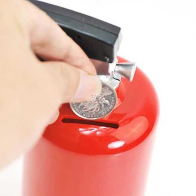 Creative Fire Extinguisher Piggy Bank Money Saving Cash Plastic Saving Box Kid Gift Toy Ornament Safe