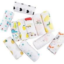 Muslinlife хлопок детское одеяло мягкий обёрточная бумага Babys, Новорожденный ребенок муслиновое одеяло 2 слоя, 110*110 см