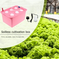 6 Holes Plant Site Hydroponic ABS Garden Pots Planters System Indoor Bubble Nursery Pots Garden Cabinet Box Grow Kit