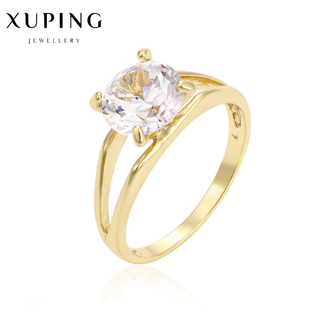 1e59314a8 Gold-color round female ring precious stone christmas birthday gifts fashion  designer trendy engagement costume jewelery C017323