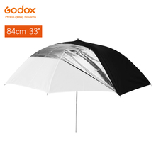 "Godox 33 ""84 cm 반투명 블랙 화이트 우산 더블 레이어 스튜디오 플래시 스트로브 조명에 대 한 반사"