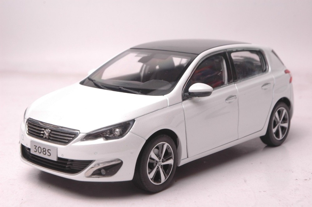 1:18 Diecast Model for Peugeot 308S 2016 White Hatchback Alloy Toy Car Collection 308 for peugeot 207 hatchback wa wc