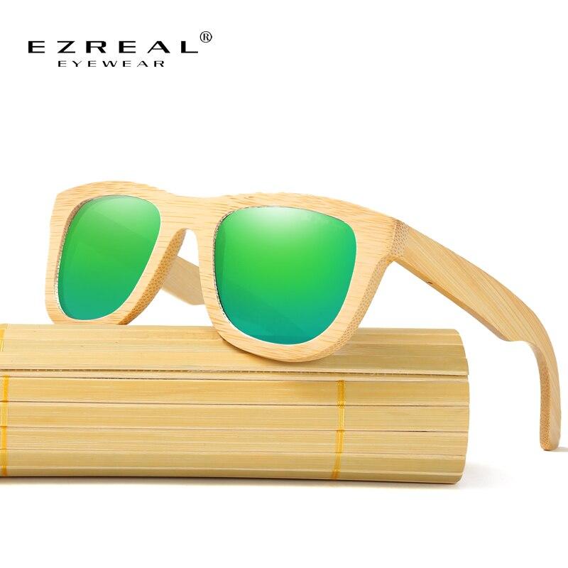 e424d2f248 EZREAL Wood Sunglasses Frame Handmade Bamboo Sunglasses Men Wooden Sun  glasses for Women Polarized Oculos de sol masculino