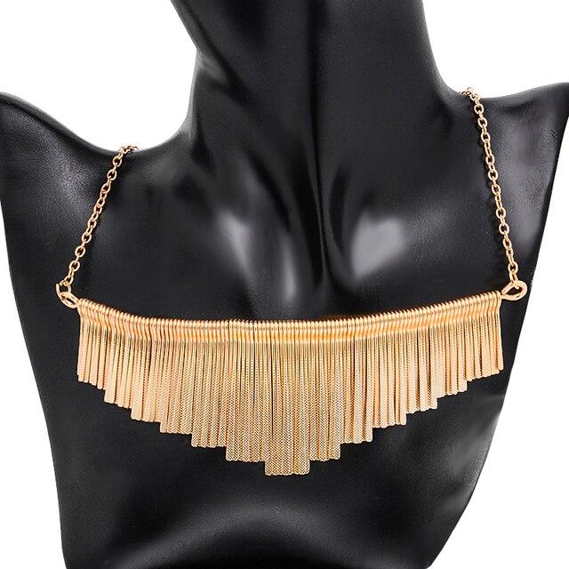 Фото модные ювелирные изделия shuangr женские массивные ожерелья