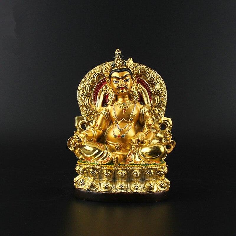 12cm Tsanbala/Jambhala Resin Buddha Figurine, Bodhisattva Delicate Buddhist Tranic Gold Plating Treasure Figure Buddha Statue12cm Tsanbala/Jambhala Resin Buddha Figurine, Bodhisattva Delicate Buddhist Tranic Gold Plating Treasure Figure Buddha Statue