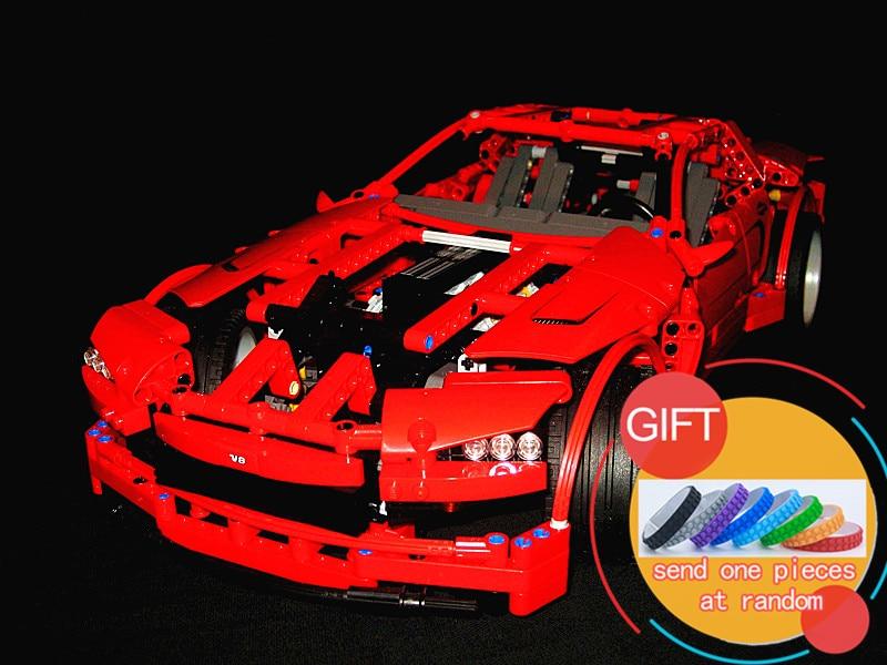 20028 1281PCS  Technic series Super Car assembly toy car model DIY building brick block 8070 Toys lepin цена и фото