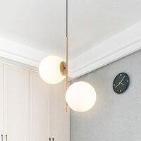Современные подвесные светильники Кухонные светильники для гостиной столовой стеклянный шар декор домашнего освещения подвесной светиль