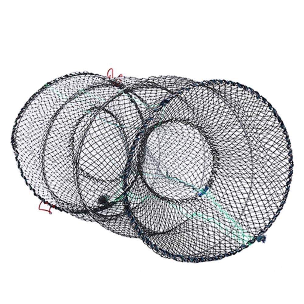 Fishing Crab Crayfish Lobster Catcher Pot Trap Fish Nylon net prawn Shrimp Green