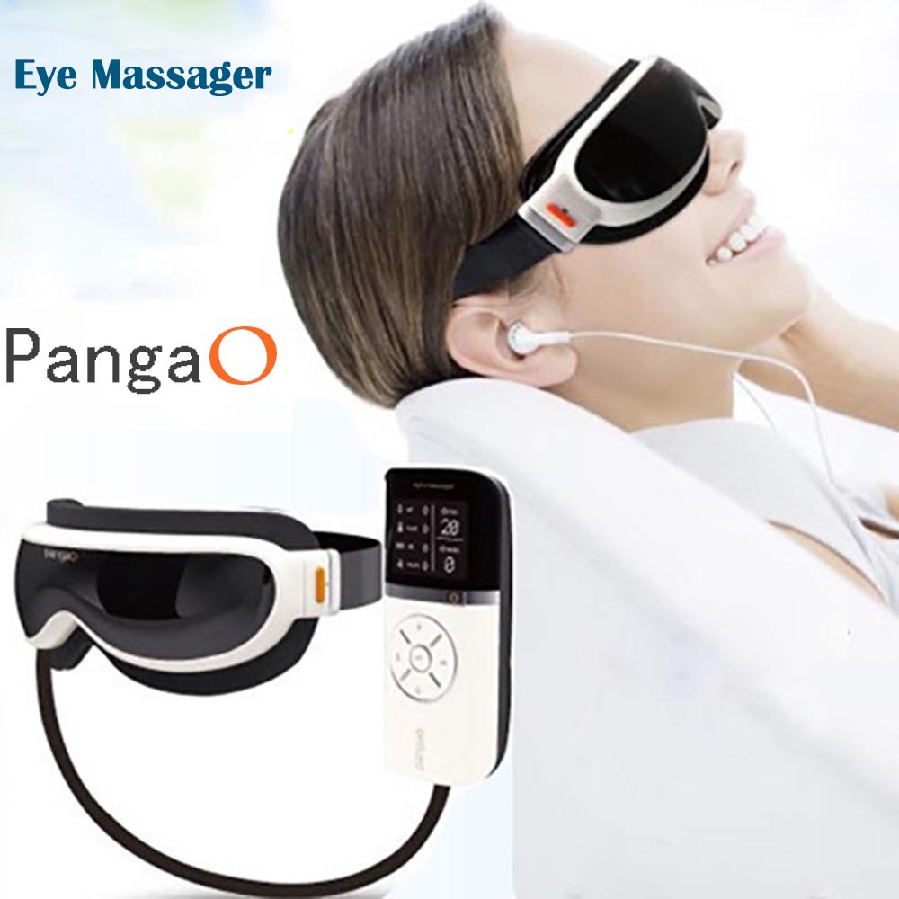 Eletric Pangao Air pressure Eye Massager Vibration And Heating Function Dispel Eye Bags,Eye Magnetic Far-infrared Heater Device vibration air pressure infrared heater eye massager massage glasses built in music and time setting mr012 s4848