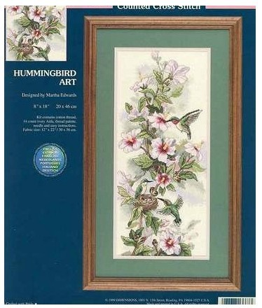 US $12 18 |Top Quality lovely beautiful counted cross stitch kit  hummingbird art Dimensions 13667 bird and peony flower-in Package from Home  & Garden