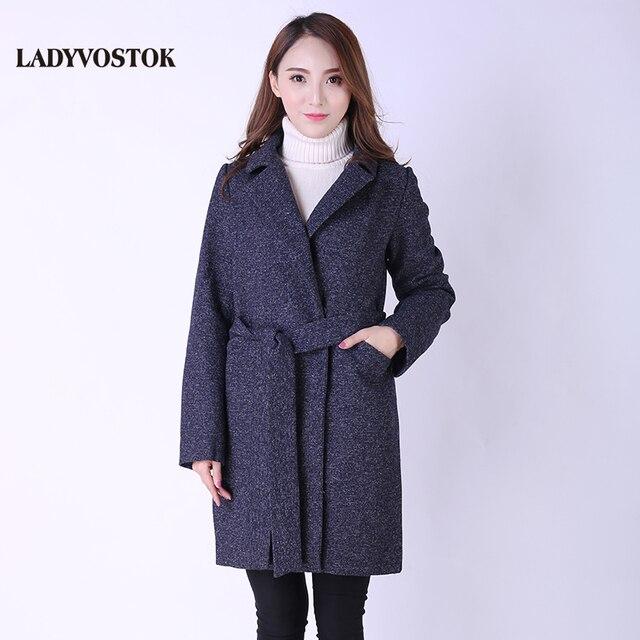 Ледивосток демисезонное Шерстяное пальто Женская модная куртка Европейский стиль Кашемир Повседневная одежда Весна 8810