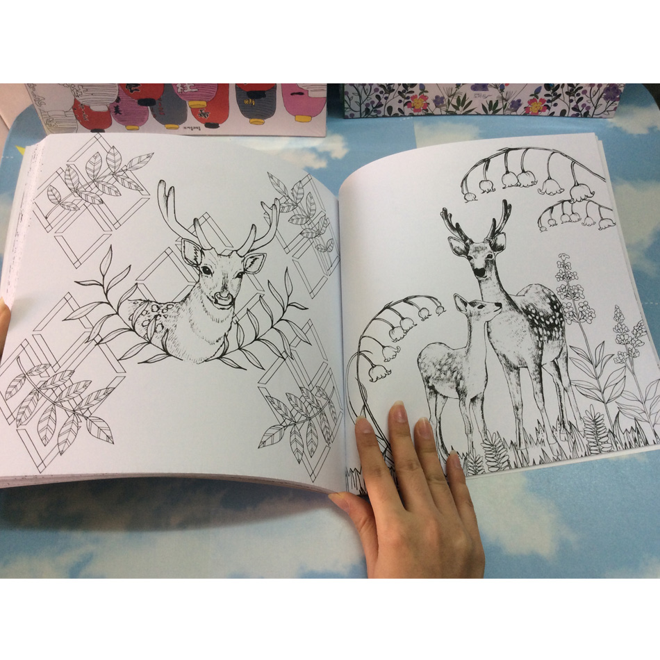 Image 5 - 96 pages Korea Dream Girl Coloring Books For adults Colouring Book Graffiti Painting libro colorear adultos art coloring books-in Books from Office & School Supplies