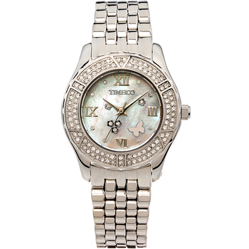 Time100 Women Quartz Watches Alloy Strap Crystal Pearl Shell Dial Ladies Dress Casual Wrist Watches relogio feminino