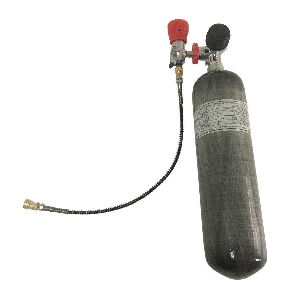 AC103201 Acecare HPA réservoir d'air 4500Psi Mini réservoir de plongée CE matériau Composite en Fiber de carbone pour fusil à Air comprimé