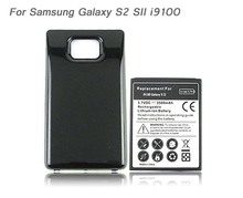For Samsung Galaxy S2 SII i9100 GT-i9100 Battery Phone Replacement Extended Thicker 3500mah Battery with Black Back Cover Case