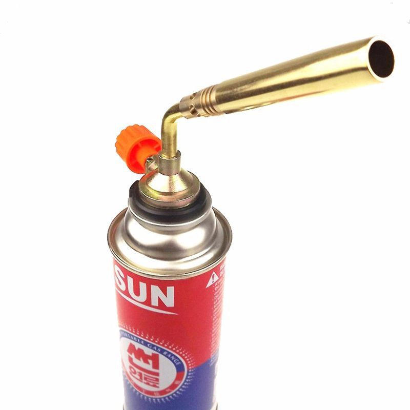 Outdoor Camping BBQ Brazing Gas Torch Lighter Flame Gun Picnic Outdoor DAS Butane Blower Welding ...