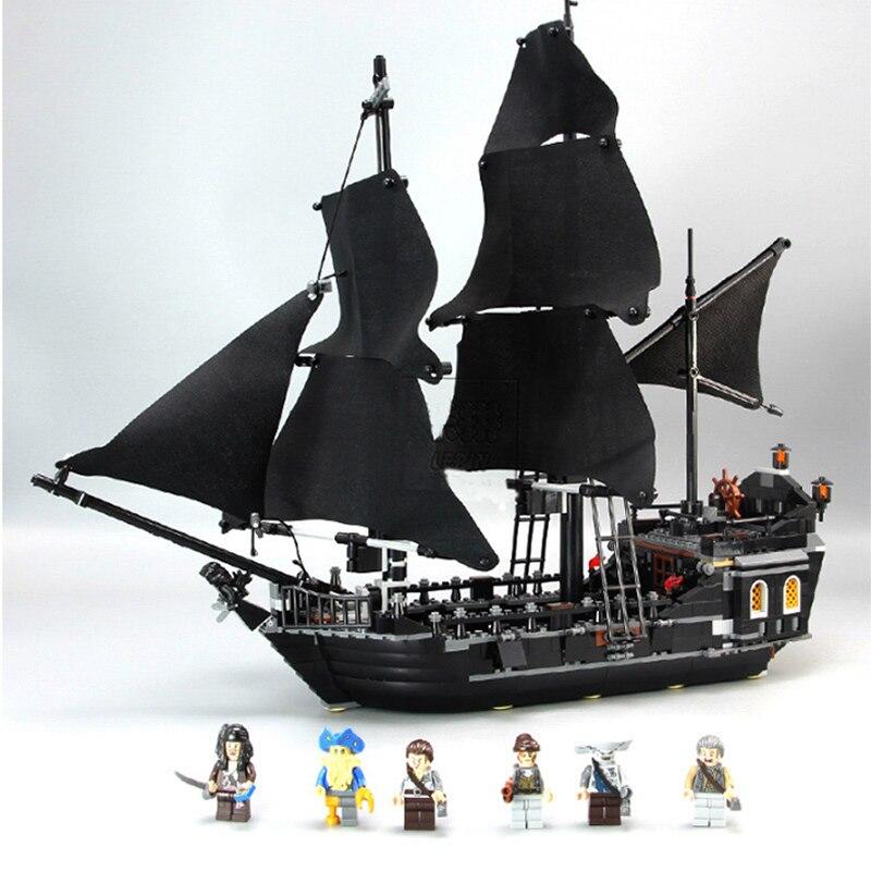 Pirates Des Caraïbes Noir Perle modèle de bateau blocs de construction jouets éducatifs Pour Enfants compatible avec Legoings Briques Cadeaux - 5
