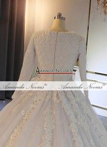 Image 5 - Vestido de casamento muçulmano 2019 pérolas completo beading 100% trabalho real com alta qualidade