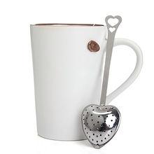 1 Pcs Stainless Steel Spoons Heart Shape Tea Infuser Spoon Strainer Steeper Handle Shower Ice Cream Tea Coffee Strainer Tools