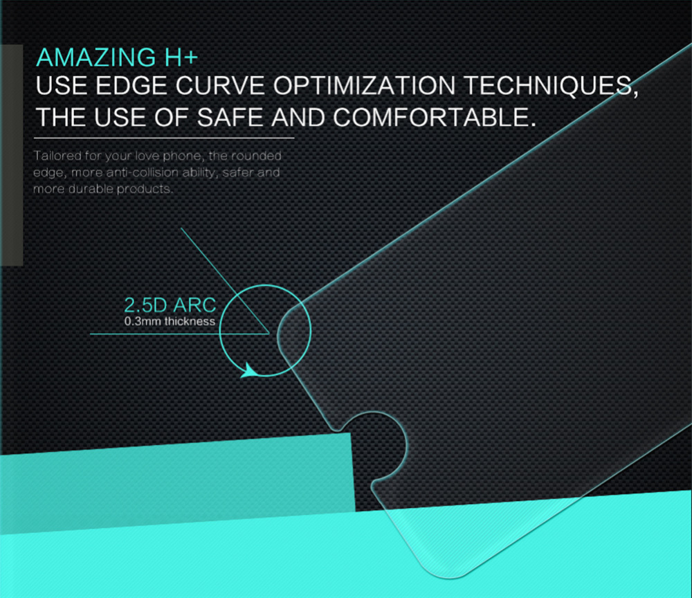NILLKIN Para o iphone 7 protetor de tela 2.5 D ARC 0.3mm H + Anti-Explose protetor de tela de vidro temperado para o iphone 8 de vidro de 4.7''