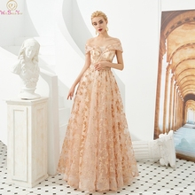 Elegant Evening Dresses Floor Length Long Tulle Off The Shoulder Lace Up Sequined Formal Party Prom Gowns 2019 robe de soiree protective pu leather case w stylus pen for samsung tab 3 7 0 t210 t211 p3200 p3210 orange