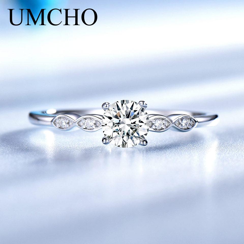 UMCHO Silver 925 Nakit Luksuzni poročni kubični cirkonski prstani - Lep nakit