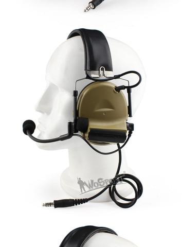 tactical comtac ii headset reducao de ruido