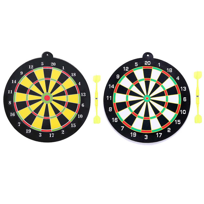 Funny Magnetic Flying Disc Set With 2Pcs Darts Magnet Dartboard Target Game  Toys For Home Office