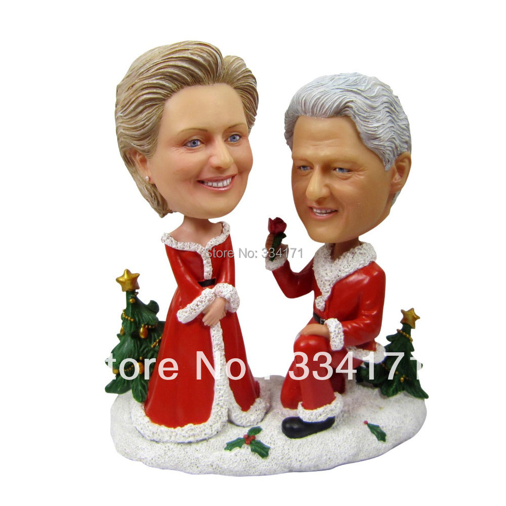 Marry Me For Christmas.Us 129 99 Personalized Bobblehead Doll Marry Me On Christmas Wedding Gift Wedding Decoration Fixed Polyresin Body Polyresin Head In Cake