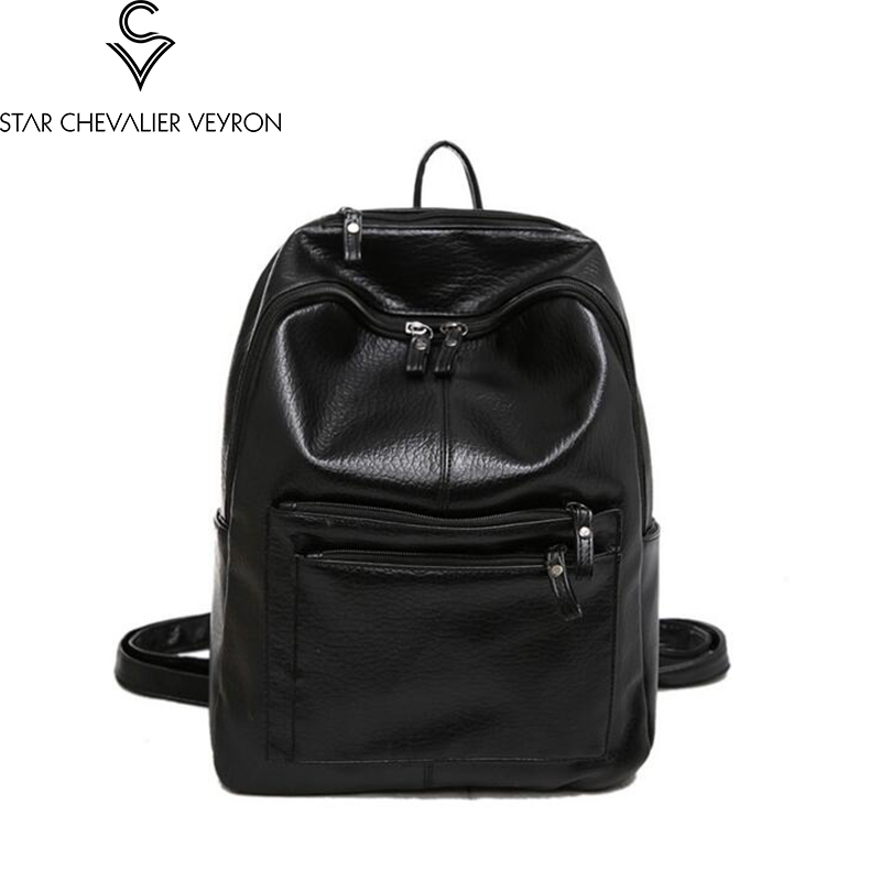 2017 new type one of three pieces pu leather women backpacks fashion trend women shoulder bags