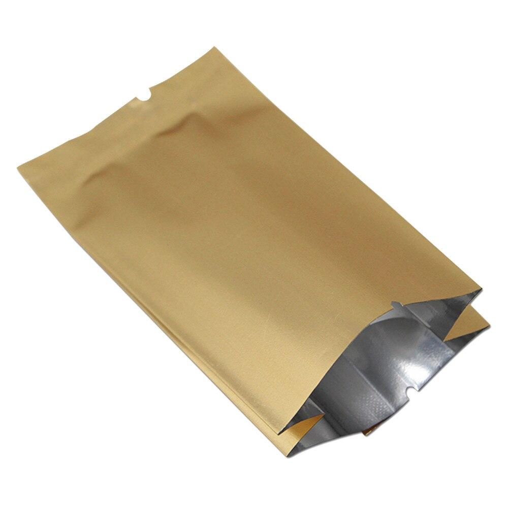 DHL Or Mylar de Papier D'aluminium De Poche de Gousset Latéral Sac Ouvert Top Thermique Sous Vide D'emballage Alimentaire Thé Drie Fleur Fruits Snack Pack