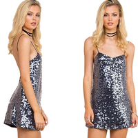 Prom Women Party Dress Sexy Deep V Neck Bodycon Sequin Plunge Dress Hollow Cut Out Glitter Backless Mini Dresses For Women