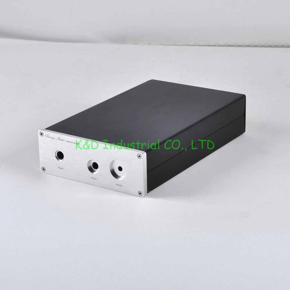 1 pc aluminium casque amplificateur boîtier boîtier préampli châssis CD DAC boîte Audio bricolage prise
