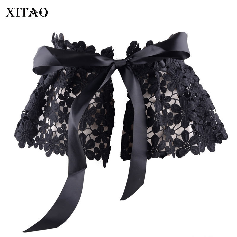 XITAO Off Shoulder Bandage Cummerbunds Hollow Out Lace Waist Decorated Wild Ladies Girdle Three Dimensional 2019 Summer DLL1704