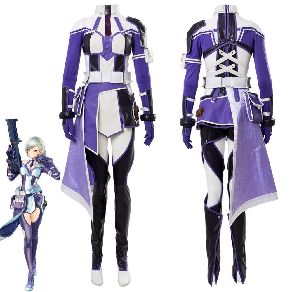 Sword Art Online: Fatal Bullet Zeliskam Cosplay Costume Adult Women Girls Halloween Carnival Cosplay Costumes