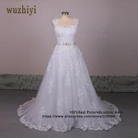 Vestidos De Noiva China Bridal Gowns Vintag Lace Appliques Wedding Dresses 2017 Zipper Wedding Gowns Lace