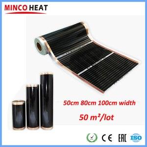Image 1 - 50m2 새로운 전기 바닥 난방 호일은 사람들을위한 스마트 와이파이 바닥 난방 온도 조절기 원적외선 필름 히터로 제어 할 수 있습니다